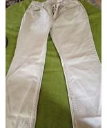 JORDACHE DESIGNER JEANS, SIZE 9/10, 100% COTTON, OFF WHITE, EXCELLENT CO... - $18.52