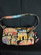 NEW Laurel Burch CAT Tapestry Golden Weave Baguette Bag Purse, Small - $24.18
