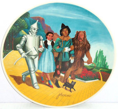 Wizard of Oz Dorothy Lion Tin Man Grand Finale Movie Collector Plate Kno... - $79.95