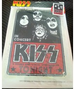 KISS Iron On Heat Transfer 1974 In Concert 8x11 2010 Music - $24.70