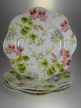Spode Botanical Pelargonium Daisy Lunch Plates Set of 4 - $27.73