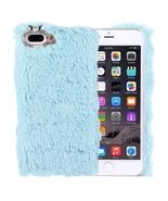 For iPhone 7 Plus Genuine Rabbit Hair Diamond i... - $9.49