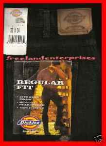 Primary image for Mens Pants Dickies Denim Jeans ~BLACK~ Size 33 X 34 NWT