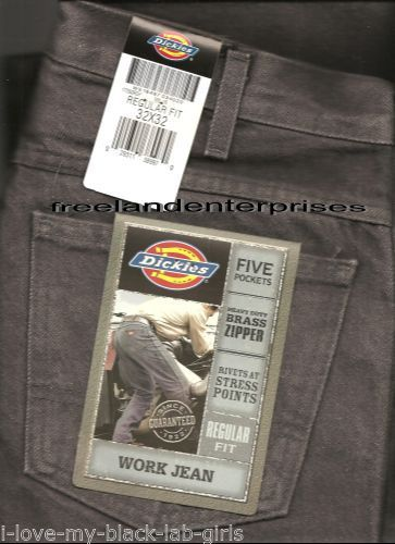 Primary image for Mens Pants Dickies Denim Jeans ~Charcoal Grey~ Size 32 X 32 NWT ~ Regular Fit ~