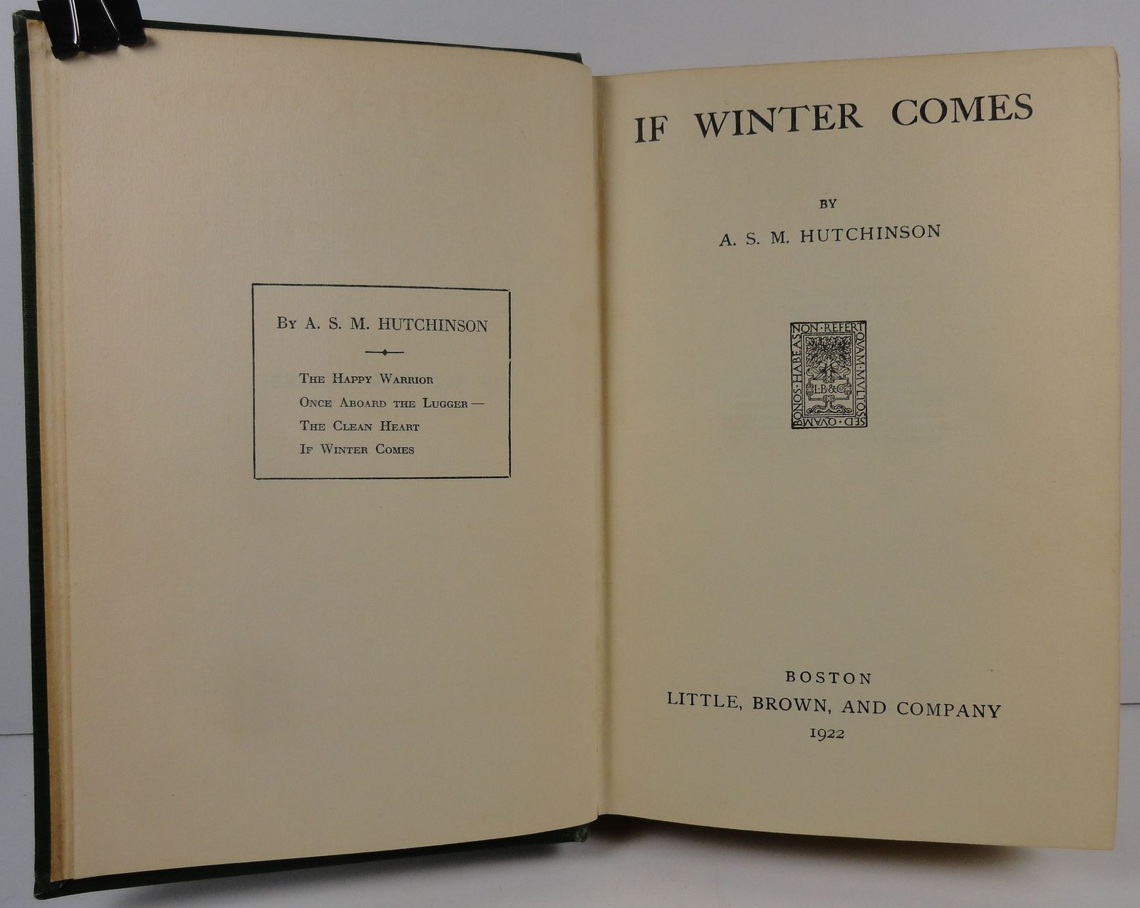If Winter Comes by A. S. M. Hutchinson 1922 Little, Brown
