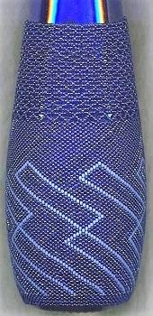 Beaded cobalt bottle  2
