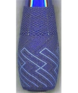 Cobalt Blue Beaded Bottle - $175.00