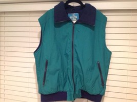 Vintage Woolrich The TETON Group Fleece Winter Vest Mens Large L Green Blue - $36.00