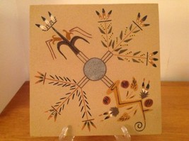 Johnnie & Gracie Dick Navajo Sand Art Painting Sacred Plants Signed Orig... - $241.97