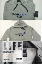 OYRZGMMM19 Oakley Grey Marle Rising Sweater Front Zip Slim Fit Hoodie Men M Size - $69.99
