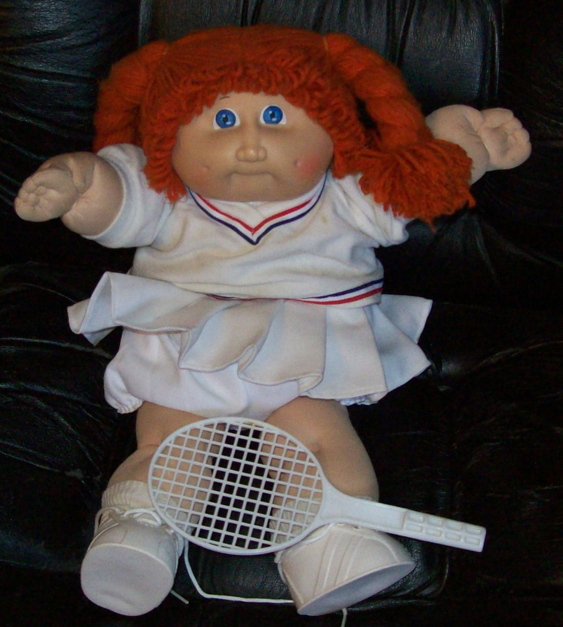1984 Cabbage Patch Kids Red Head Girl Tennis Player