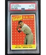 1958 Topps #477 Bill Skowron All-Star  New York Yankees PSA 8 NR-MT - $64.30