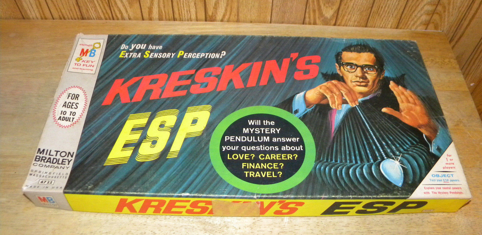 Primary image for Vintage 1966 Game ~ Kreskin's ESP by Milton Bradley