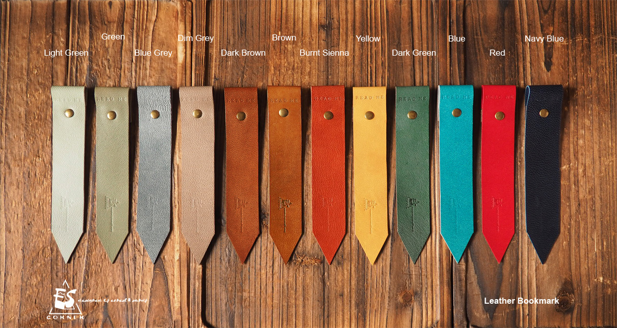 Natural Forest Leather Bookmark Gift Set-Handmade,Minimalist, Personalized gifts