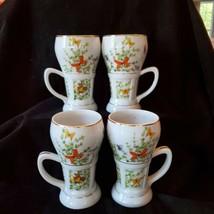 Shafford Ecstasy Large Coffee Mugs Butterfly Garden Tea Cups Japan Lot o... - $44.50