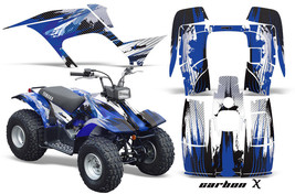 ATV Graphics Kit Quad Sticker Decal Wrap For Yamaha Breeze 125 89-04 CARBONX BLU - $168.25