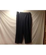 Marina Rinaldi Basic Black Dress Pants w/ White Grid Pattern - $94.05