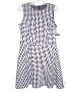 Chaps Black and White Herringbone Houndstooth A-Line Dress NWT$95 Size 14P - $71.25