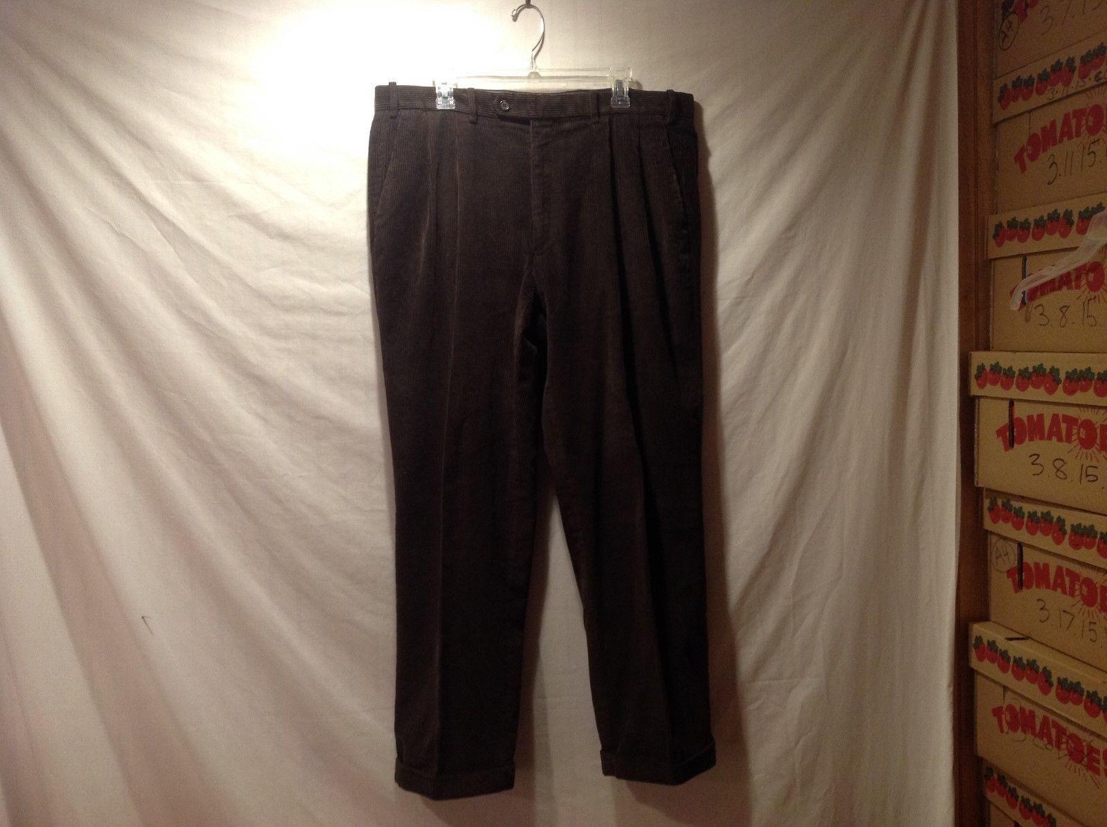 Ralph Lauren Dark Brown Cuffed Corduroys 100% Cotton