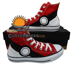 Painted converse sneakers, Pokemon, Pikachu, Handpainted shoes - $59.00+