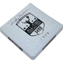 """Rickey Henderson Signed Commemorative Base w/ """"1406 S.B."""" Insc. - $560.00"""