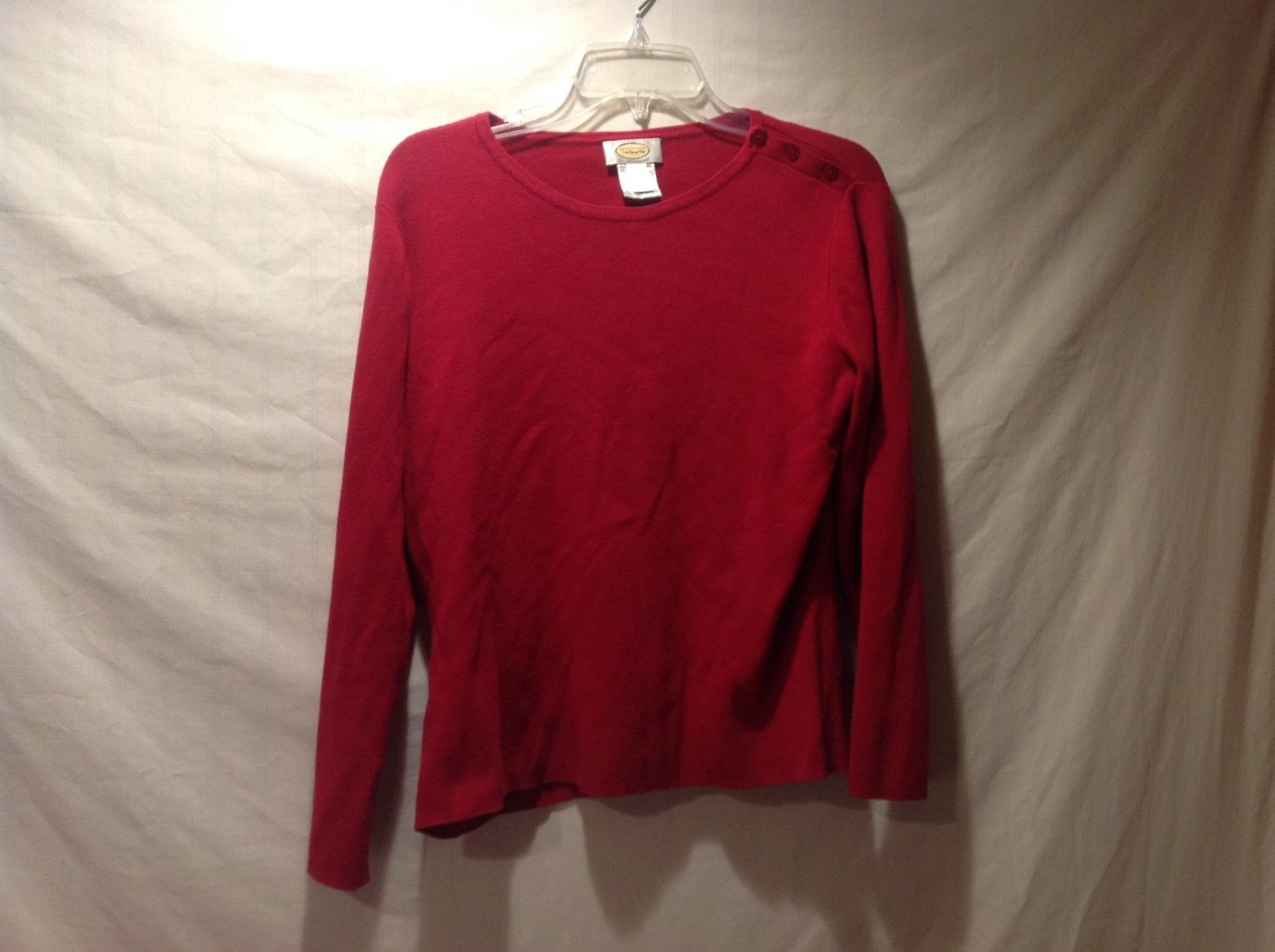 Talbots Red Long Sleeved Shirt Size Medium