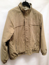 Van Heusen XL Jacket Khaki Tan Quilted Lining Mens Excellent - $27.41