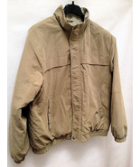 Van Heusen XL Jacket Khaki Tan Quilted Lining Mens Excellent - $27.41