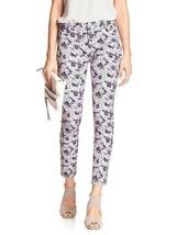 BR Factory Print Sloan-Fit Slim Ankle Pant, Grey/Lavender, Size 12, Pre-... - $26.99