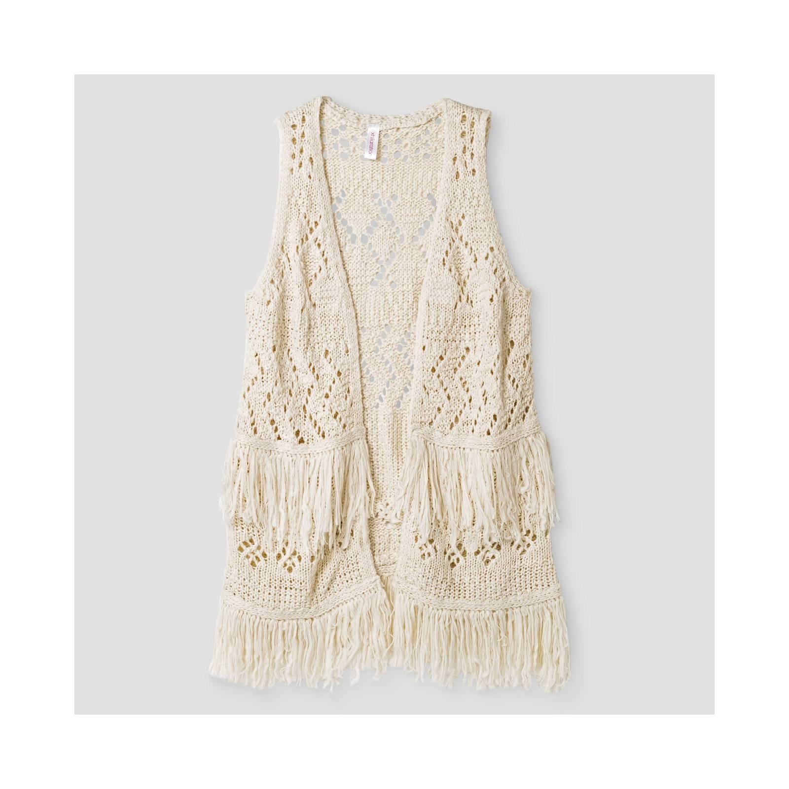 3d23711a8d NWT Xhilaration Girls  Ivory Fringe Sweater and similar items
