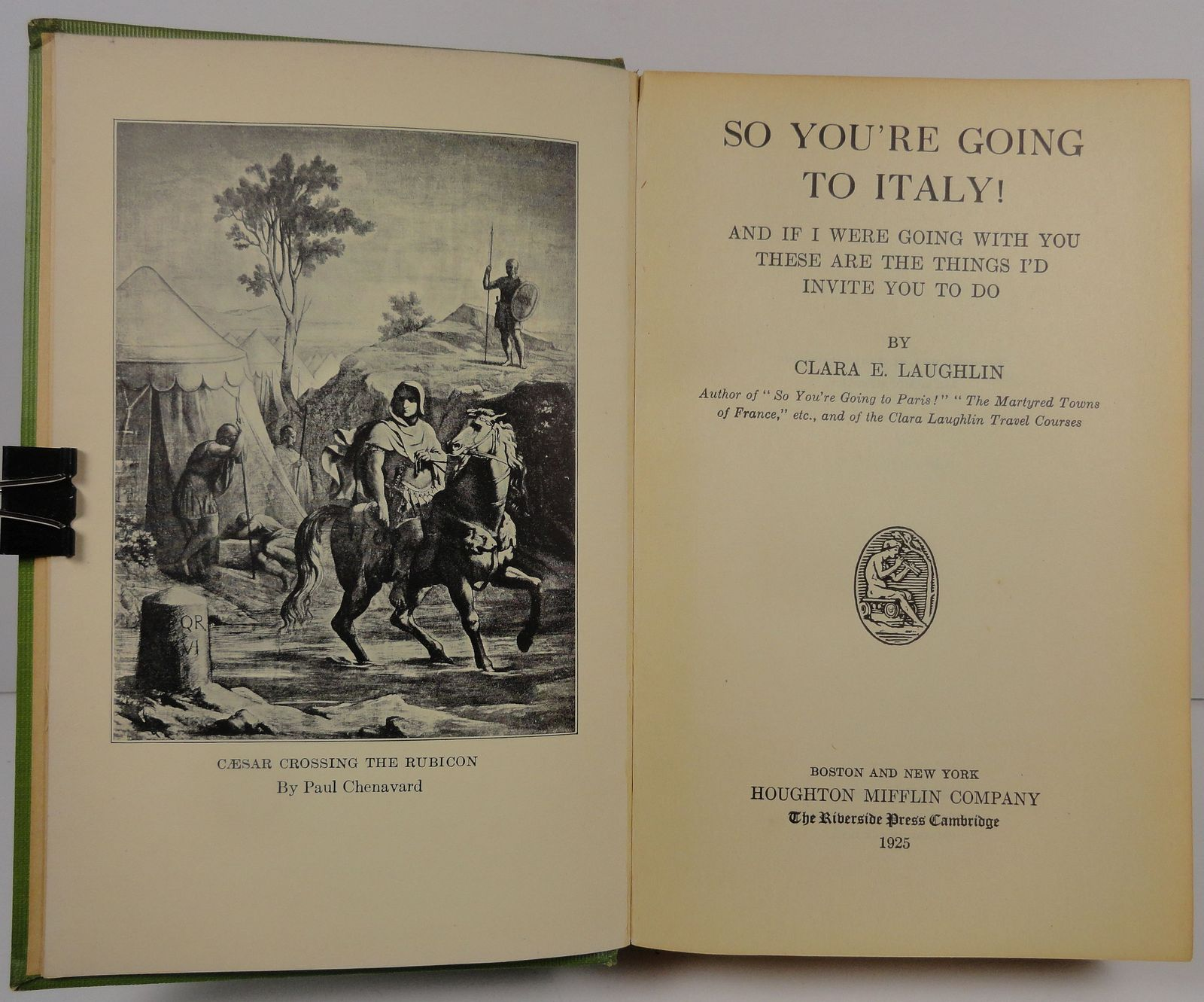 So You're Going to Italy! by Clara E. Laughlin 1925
