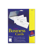 """Avery Business cards, 2"""" x 3.5"""", White - 250 count - $12.99"""