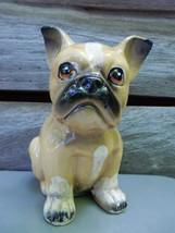 ceramic bulldog japan 6 1/2in tall - $23.00