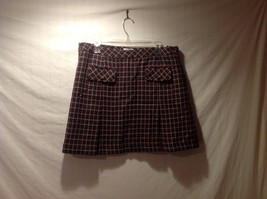 Ann Taylor LOFT Brown Plaid 100% Wool Skirt Size 14