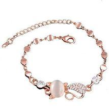 Heart-shaped Rose Gold Bracelet Hand Jewelry Fashion Jewelry Amethyst Bracelet