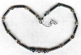 Hematite Fancy Jasper Gemstone Necklace - $3.50