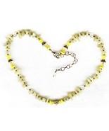 Prehnite Gemstone Chip Necklace - $3.50