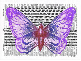 Art N Wordz Caterpillar ButterFly Original Dict... - $21.00