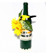 Green Bay Packers Inspired Wine Bottle w Bird D... - $18.99