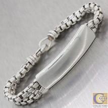 Mens David Yurman Sterling Silver 10mm Wide Classic Square Link Bracelet - $449.79