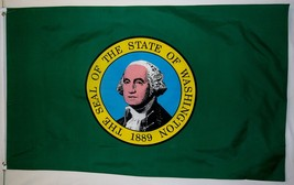 State Of Washington Flag 3' X 5' Indoor Outdoor Banner - $9.95