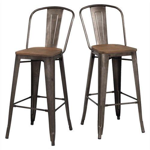 Tabouret Bistro Wood Seat Vintage Finish Bar Stools Set  : 51jsqs4wd7l from www.bonanza.com size 500 x 500 jpeg 32kB