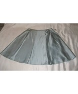 New w Tags Tahari Blue Silk Pleated Skirt Size 10   - $27.99