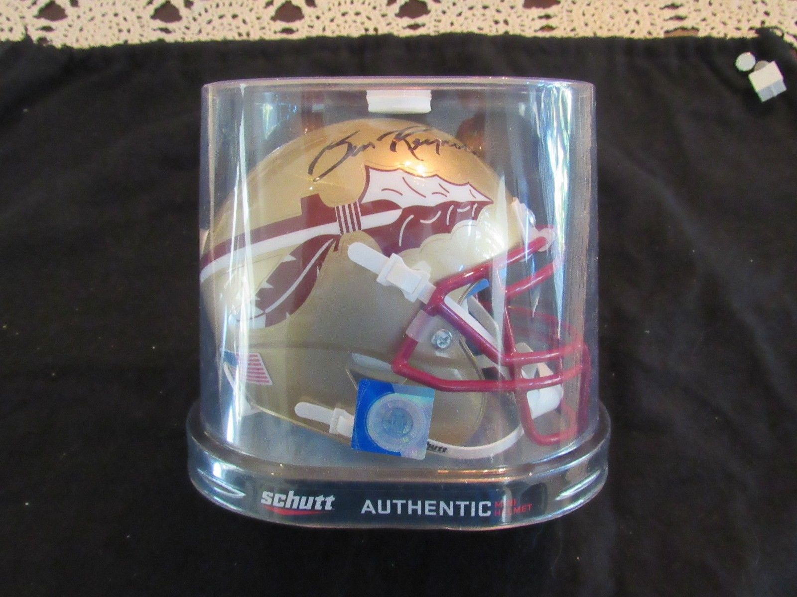 Primary image for BURT REYNOLDS ACTOR SIGNED AUTO FLORIDA STATE SEMINOLES NEW MINI HELMET STEINER