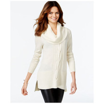Inc International Concepts Cowl-Neck Cable-Knit Tunic Sweater, XL - $44.30
