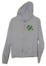 DISNEY 2014 Epcot World Showcase SOCCER Hoodie Sweatshirt White XL Women/Juniors - $9.99