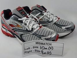 MISMATCH Brooks Ghost 3 Size 10 M (D) Left & 9 M (D) Right Men's Shoes White Red