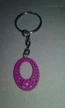 Handmade Fuchsia Pink Oval Wood Heart Design Si... - $4.99