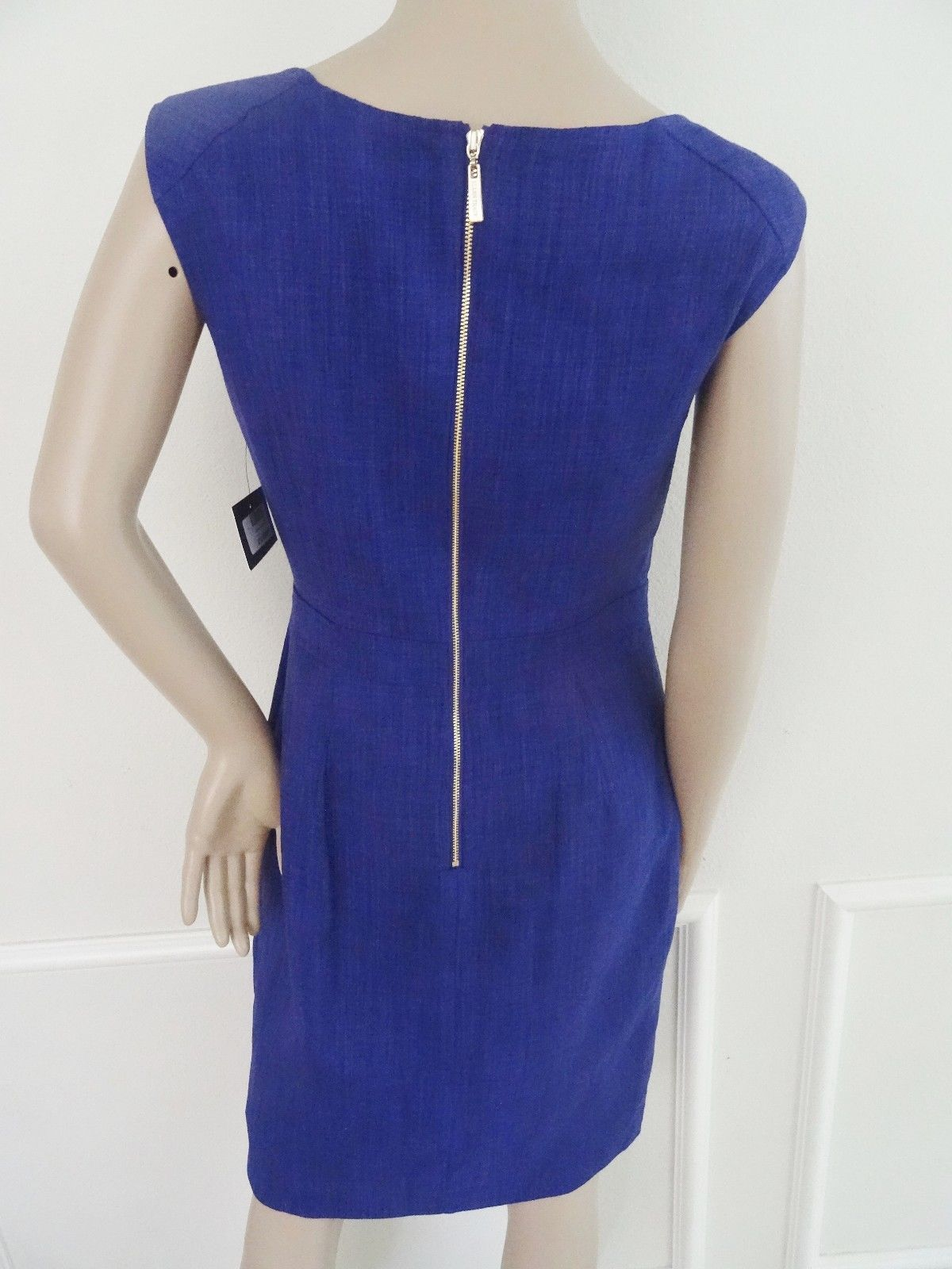 Nwt Ellen Tracy Faux Wrap Sheath Sleeveless Cocktail Party Dress Sz 4 Purple