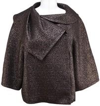 ESCADA Metallic Brown Black Swing Jacket Blazer... - $242.55